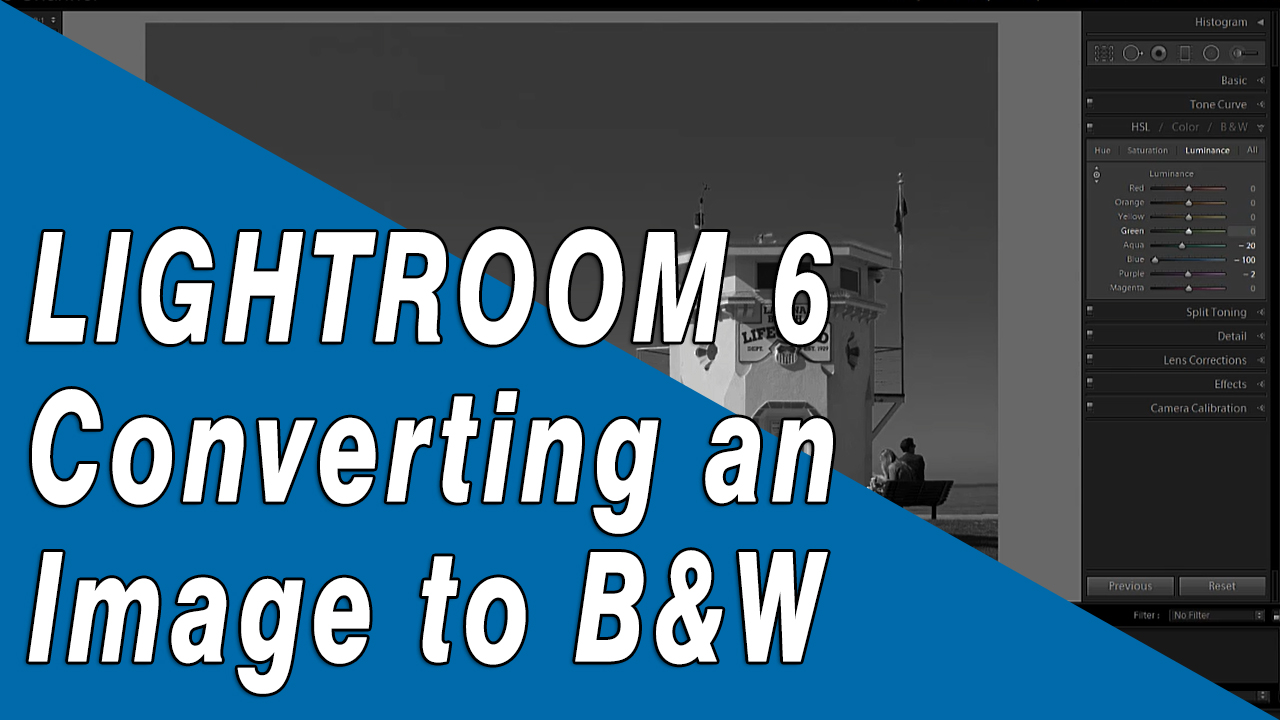 How to convert a color photo to b&w