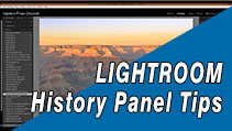 Understanding Lightroom's History Panel