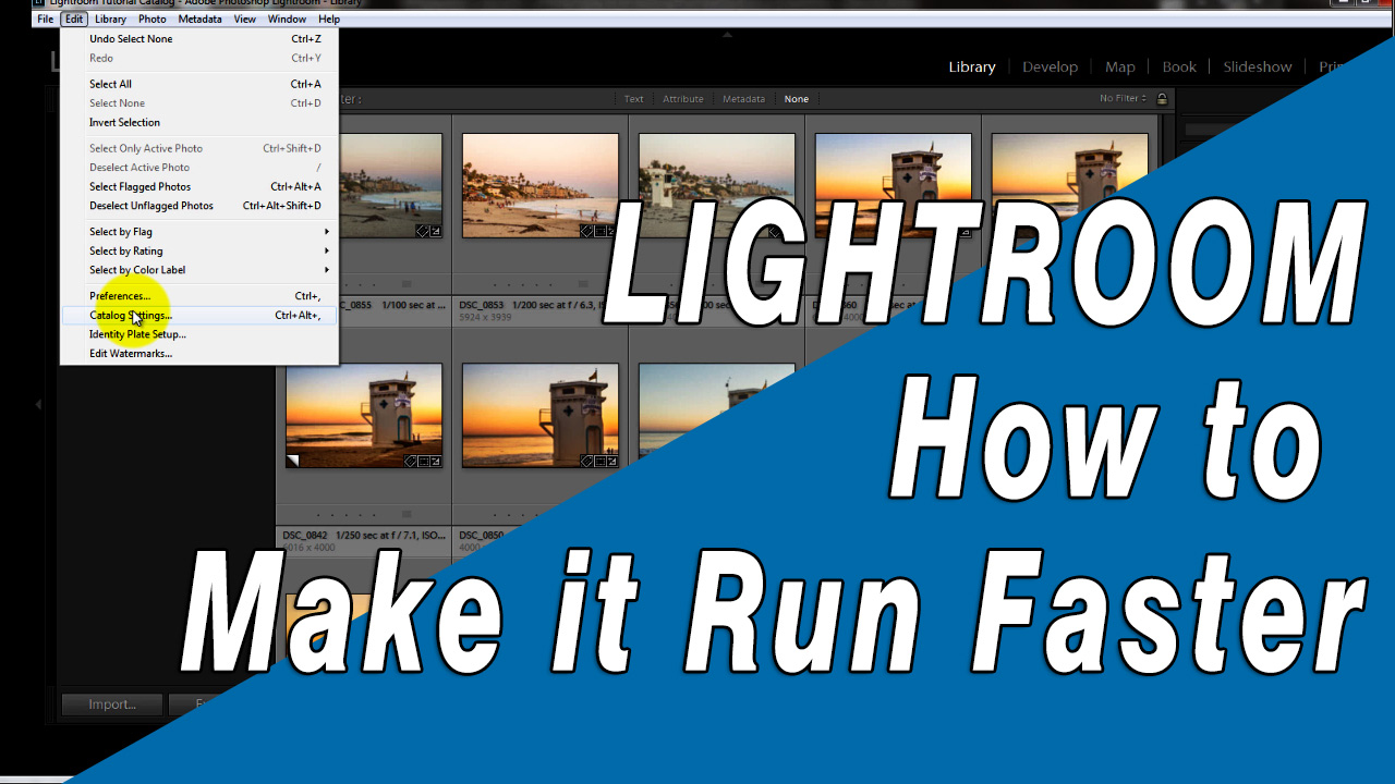 Making images load faster in Lightroom's Library and Develop Modules