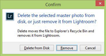 Delete from computer, not just from Lightroom