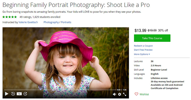 Taking Family Pportraits Like a Pro-  Discount coupon