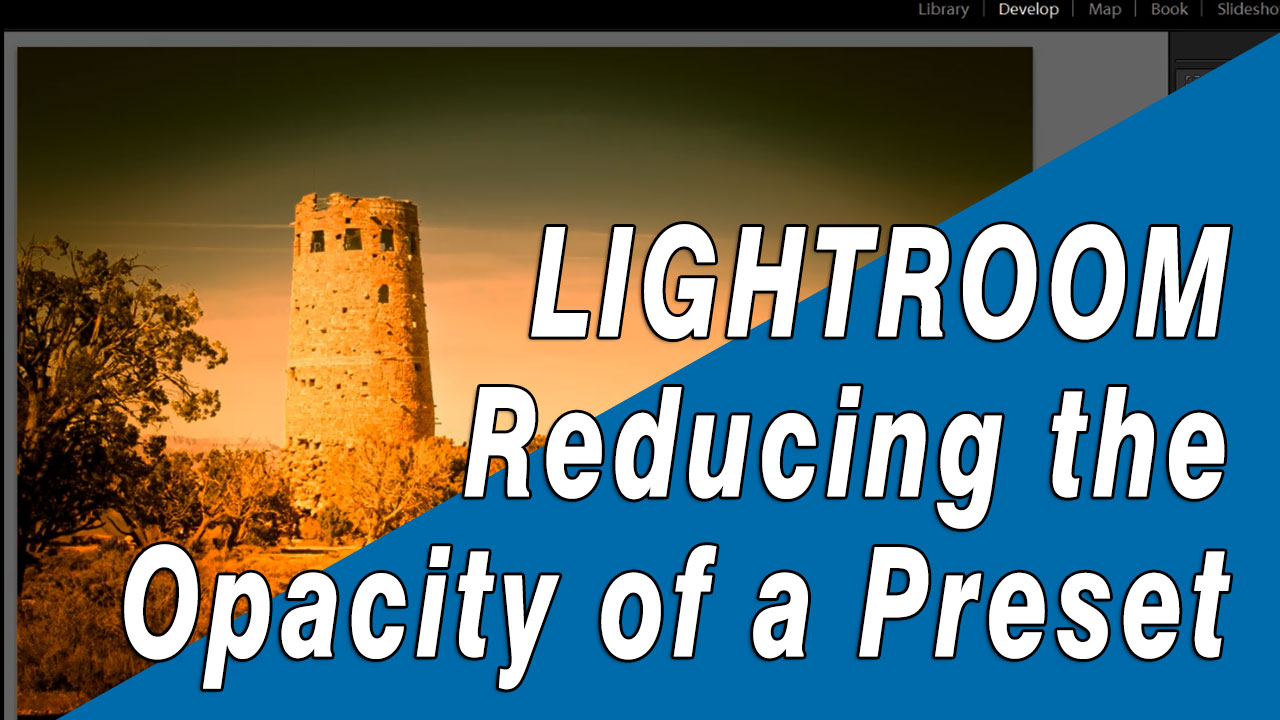 Reducing the opacity of a Lightroompreset
